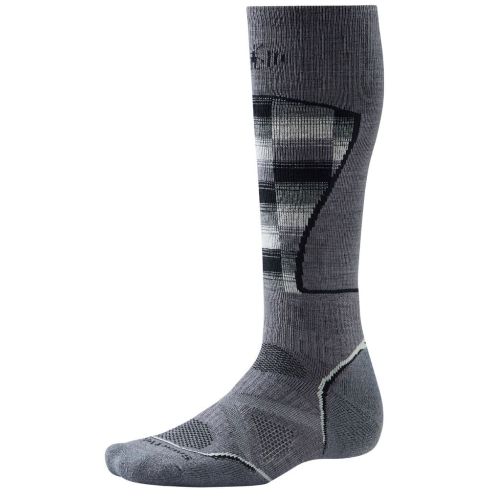 SMARTWOOL Men's PhD Ski Medium Pattern Sock - GRAPHITE/WHT 419