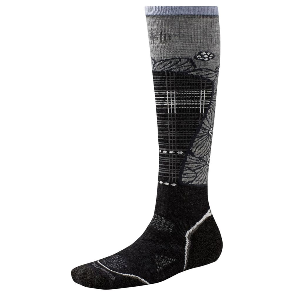 SMARTWOOL Women's PhD® Ski Medium Pattern Socks - CHARCOAL 003