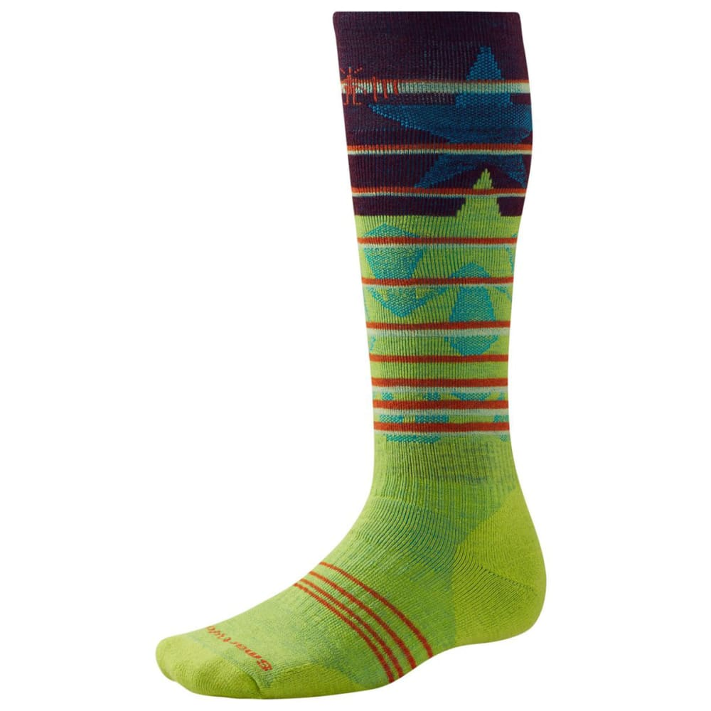 SMARTWOOL Men's PhD® Slopestyle Medium Lincoln Loop Socks - SWAMP GREEN