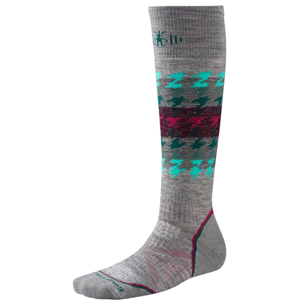 SMARTWOOL Women's PHD Snowboard Medium Socks - LIGHT GRAY