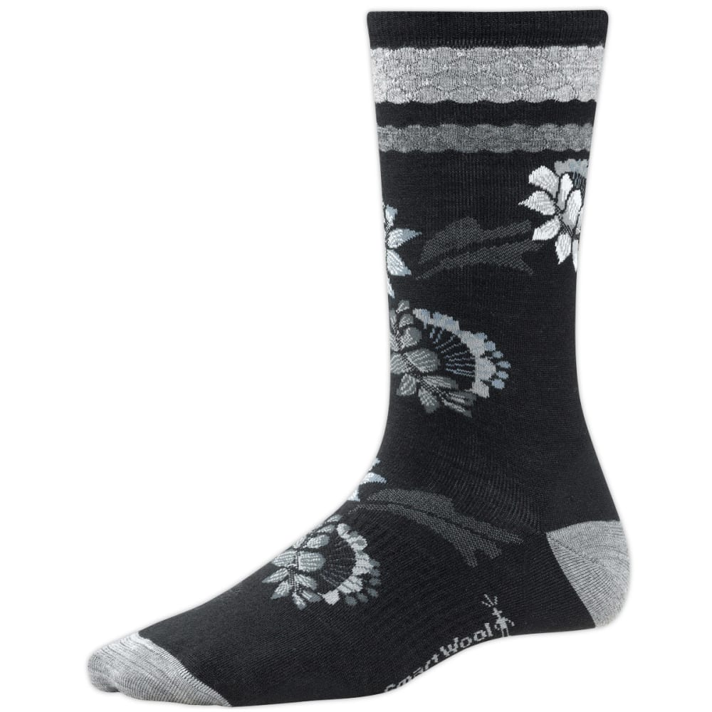 SMARTWOOL Women's Blossom Bitty Socks, Ash Heather - BLACK