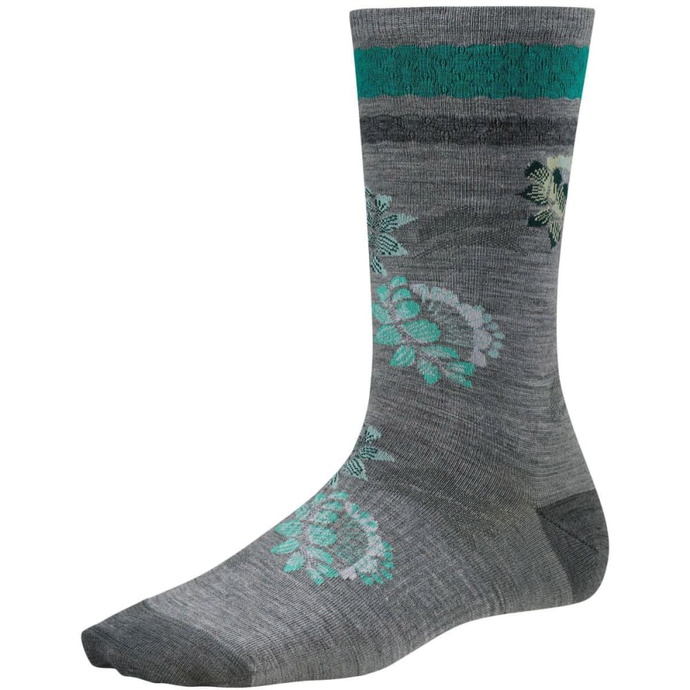 SMARTWOOL Women's Blossom Bitty Socks, Ash Heather - LIGHT GREY HEATHER