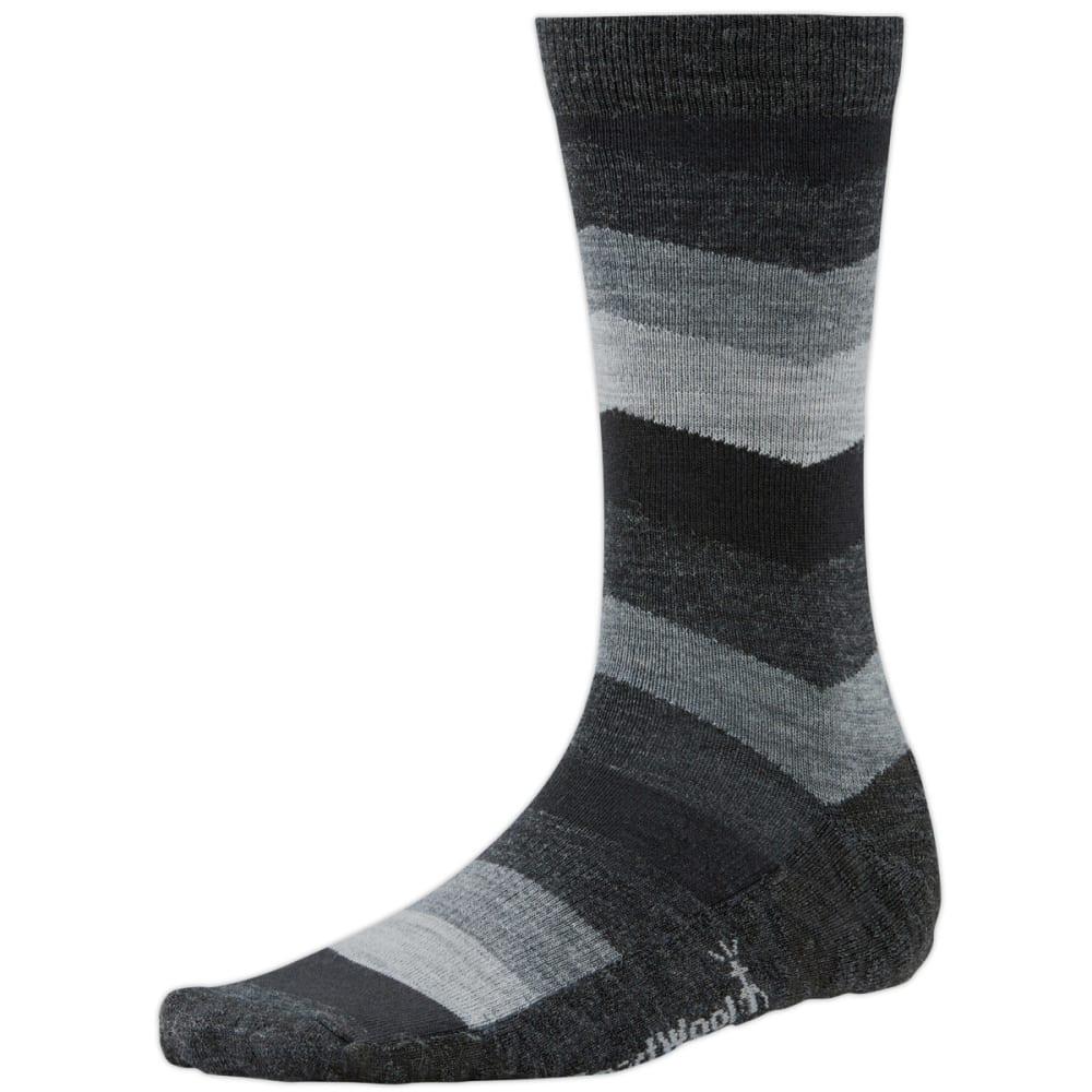 SMARTWOOL Men's Chevron Stripe Crew Socks - BLACK