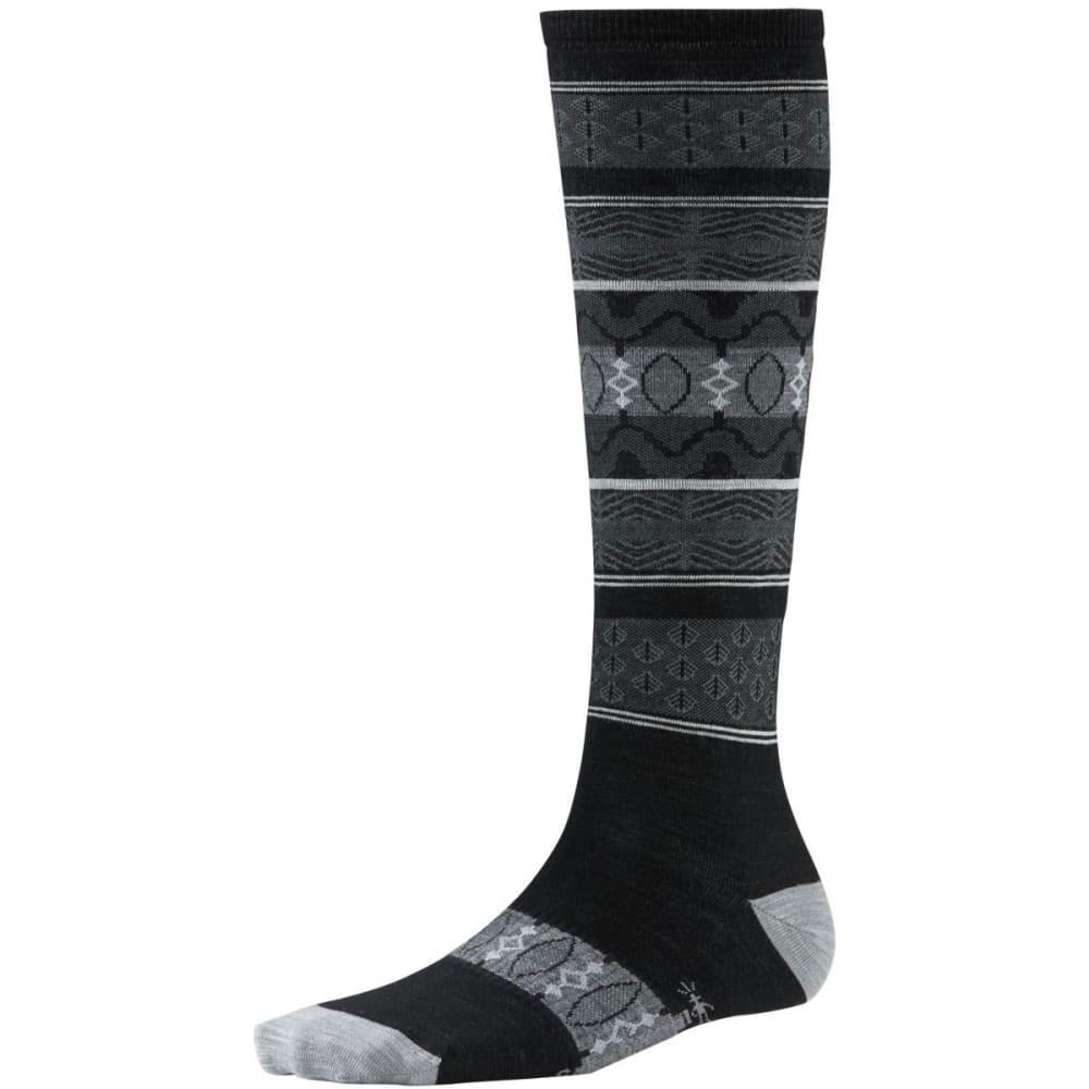 SMARTWOOL Women's Pine Glass Knee-High Socks - BLACK
