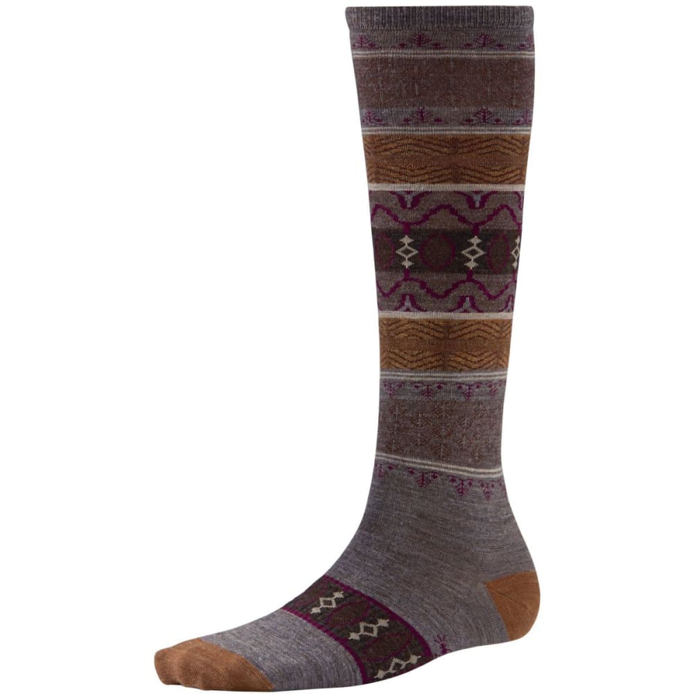 SMARTWOOL Women's Pine Glass Knee-High Socks - TAUPE HEATHER