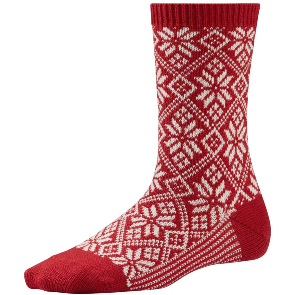 SMARTWOOL Women's Traditional Snowflake Socks - CRIMSON-151