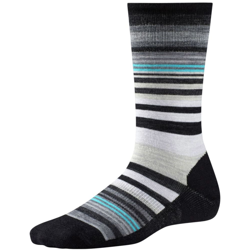 SMARTWOOL Women's Jovian Stripe Crew Socks - BLACK-001