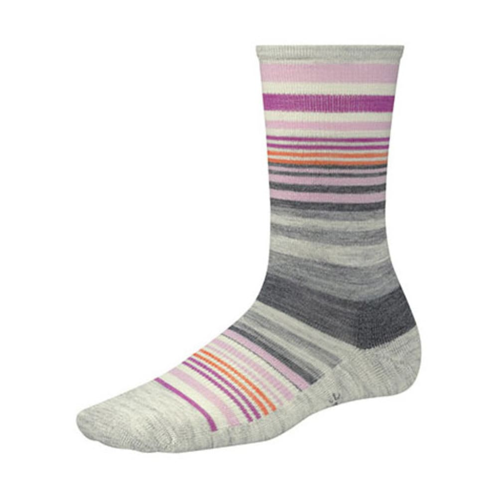 SMARTWOOL Women's Jovian Stripe Crew Socks - ASH HEATHER