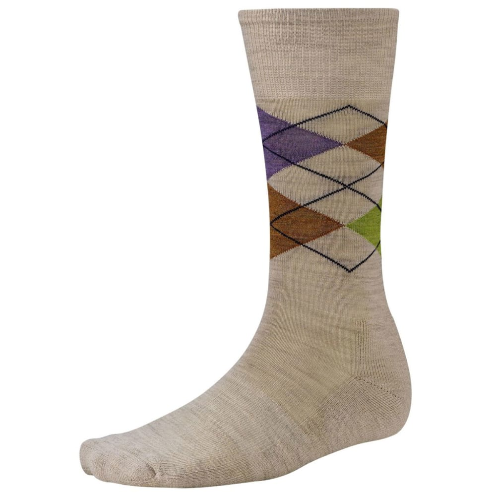 SMARTWOOL Men's Diamond Jim Socks - OATML HEAT