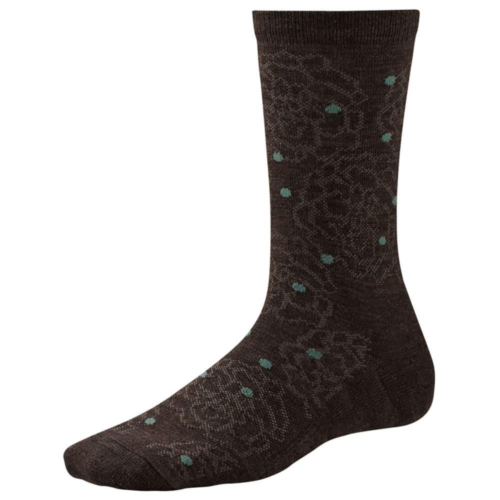 SMARTWOOL Women's Knoll Garden Crew Socks - CHESTNUT