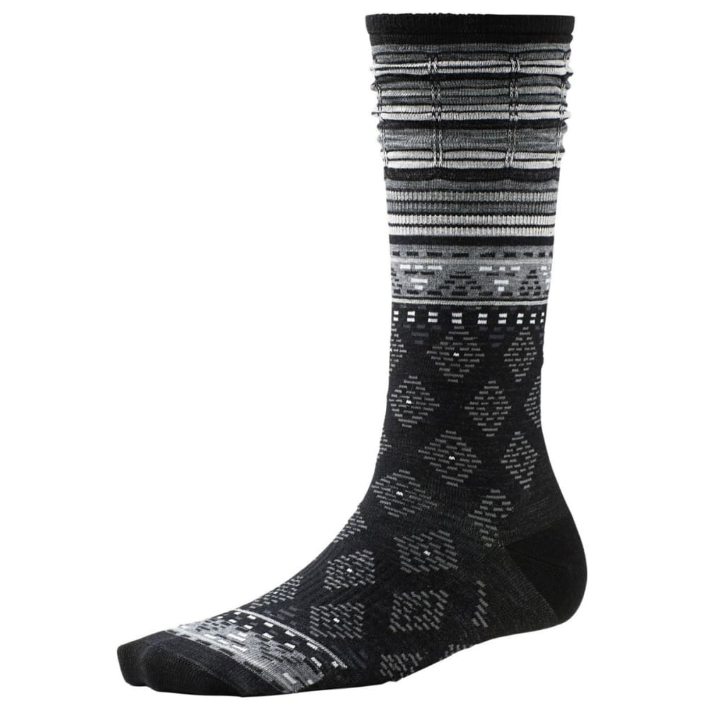 SMARTWOOL Women's Rocking Rhombus Mid Calf Socks - BLACK