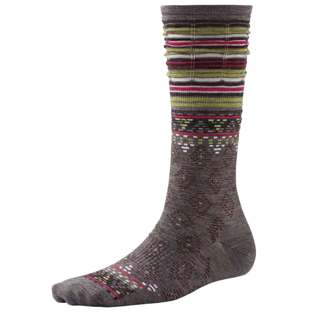 SMARTWOOL Women's Rocking Rhombus Mid Calf Socks - TAUPE