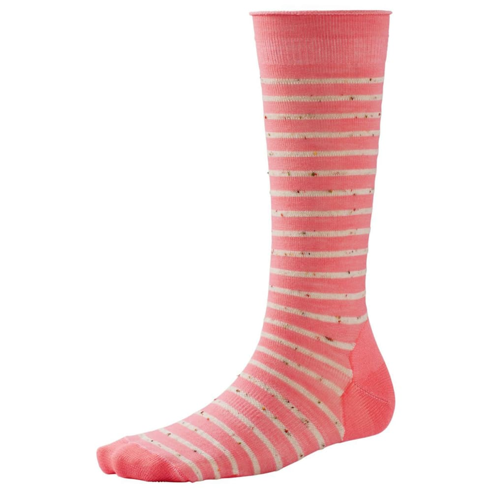 SMARTWOOL Women's Vista View Mid Calf Socks - BRIGHT CORAL