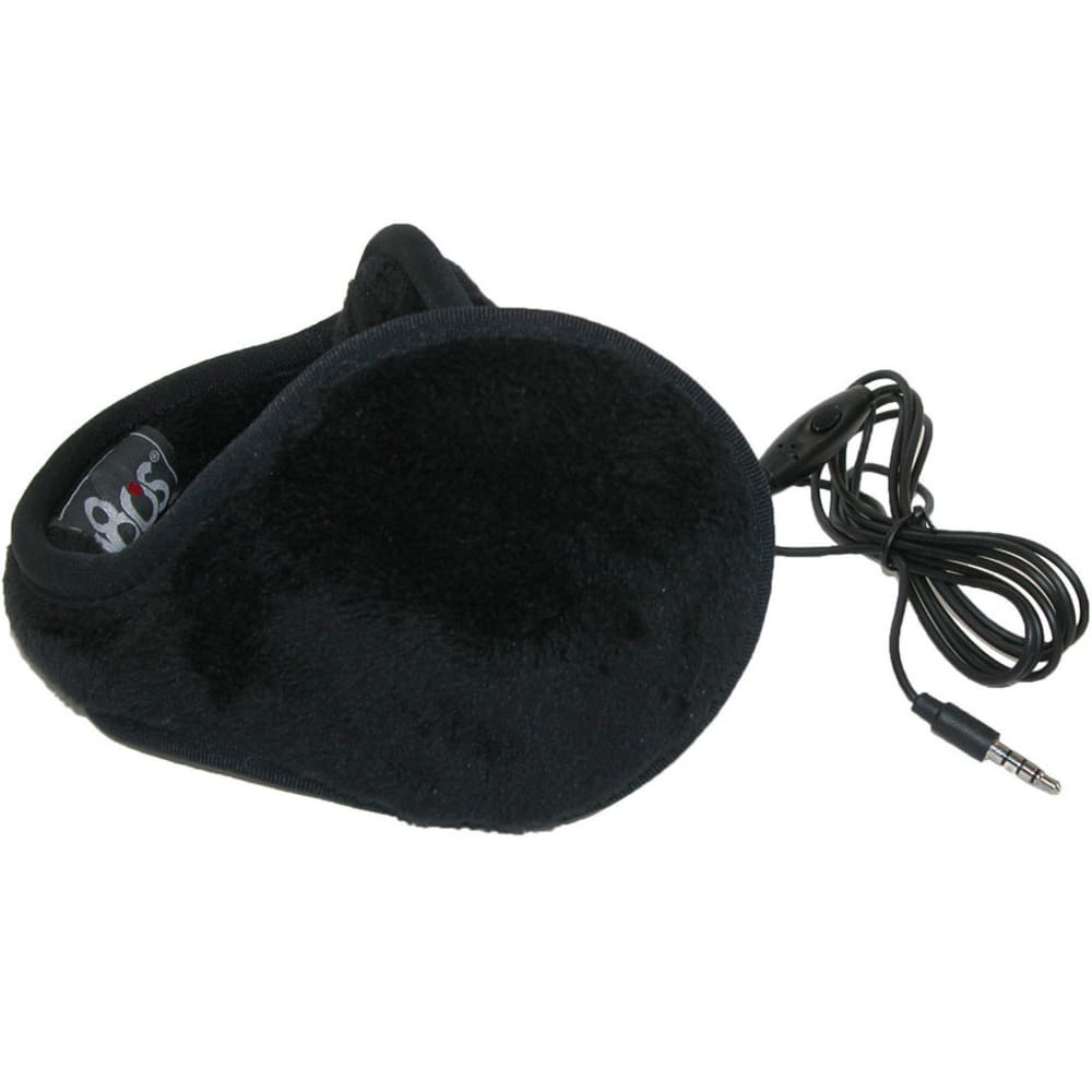 180's Women's Lush Ear Warmers with Headphones - BLACK
