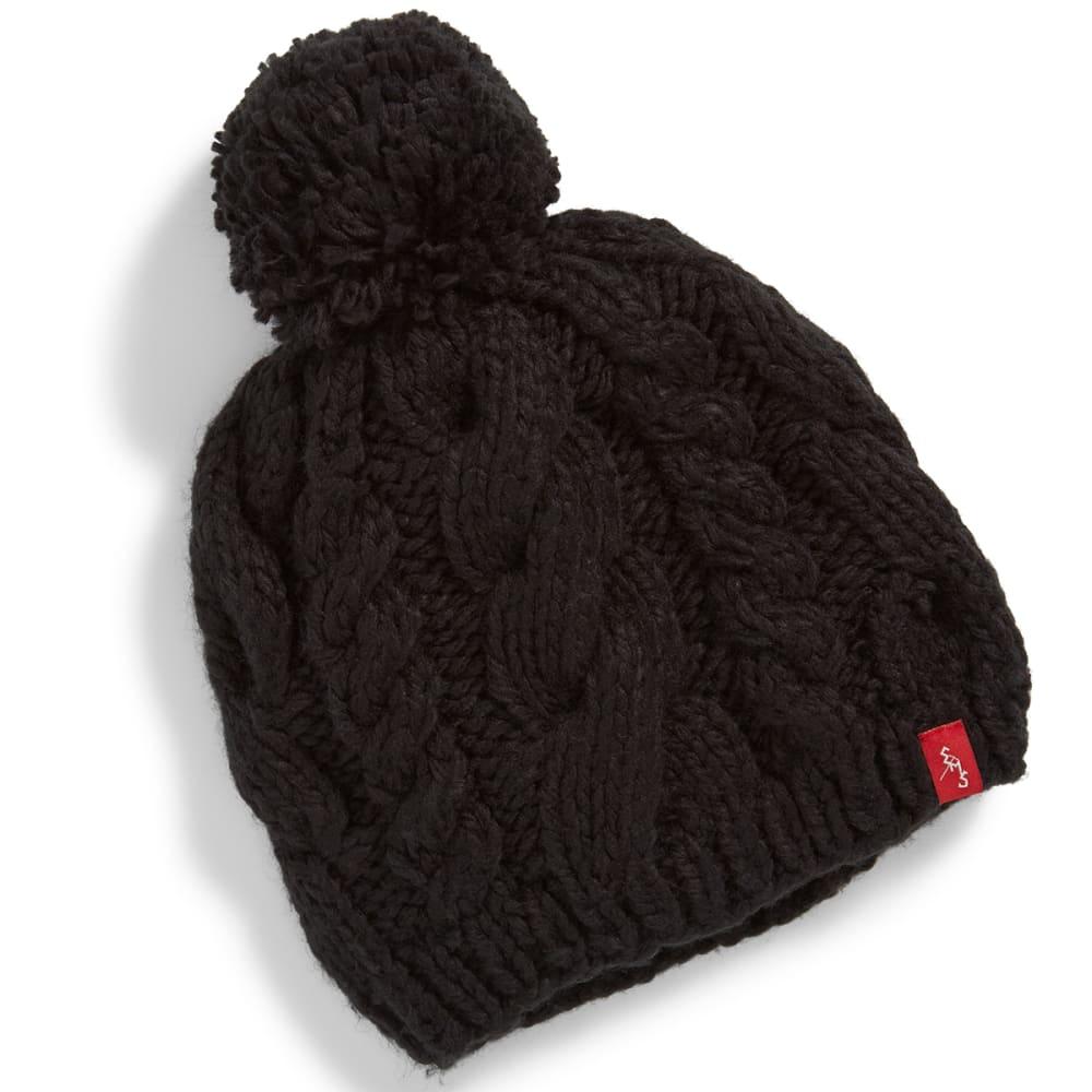 EMS® Cable Knit Pom Pom Beanie - JETBLACK