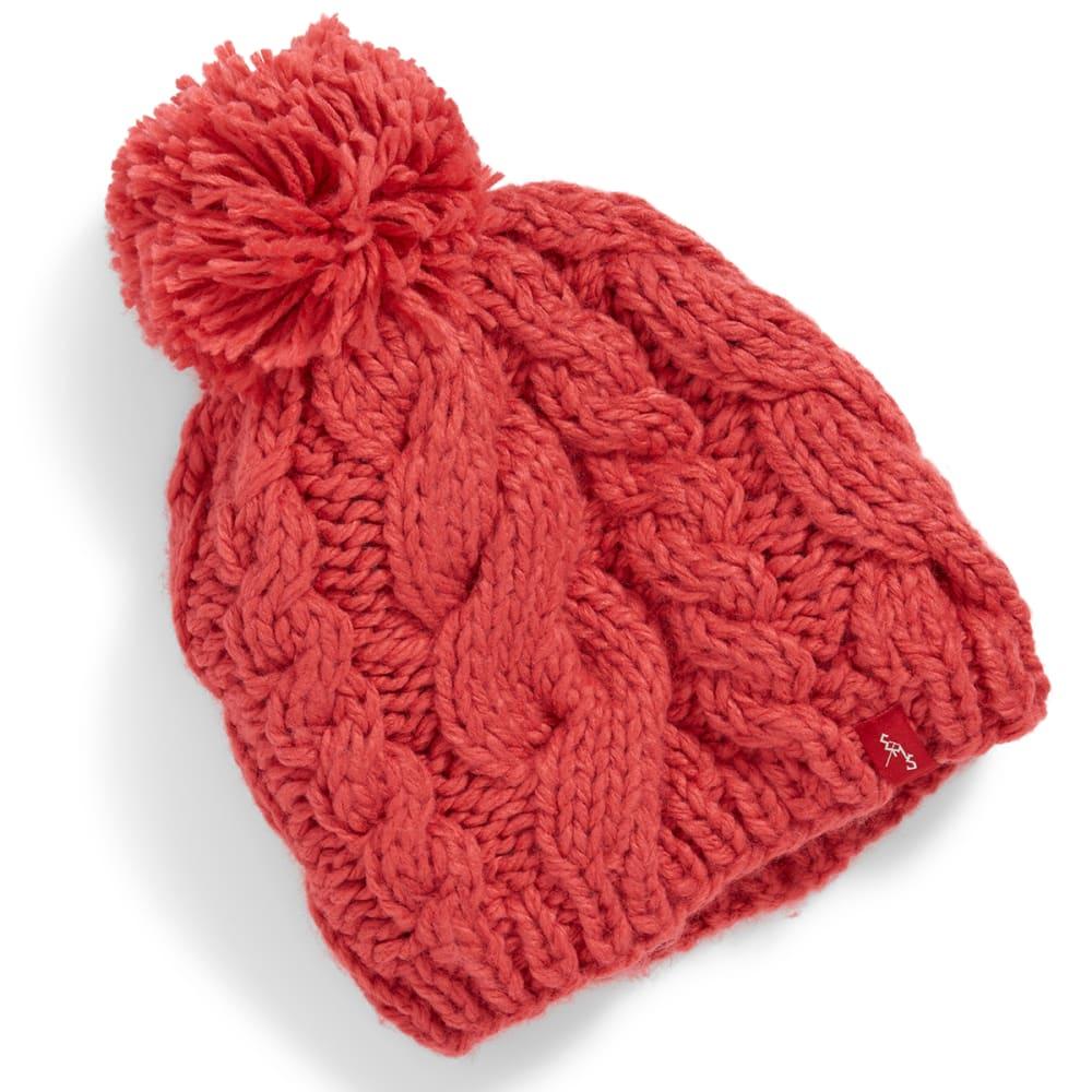 EMS® Cable Knit Pom Pom Beanie - ROSEOFSHAR