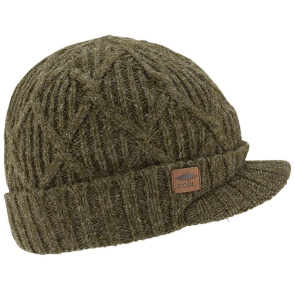 COAL Men's The Yukon Brimmed Beanie - OLIVE GREEN