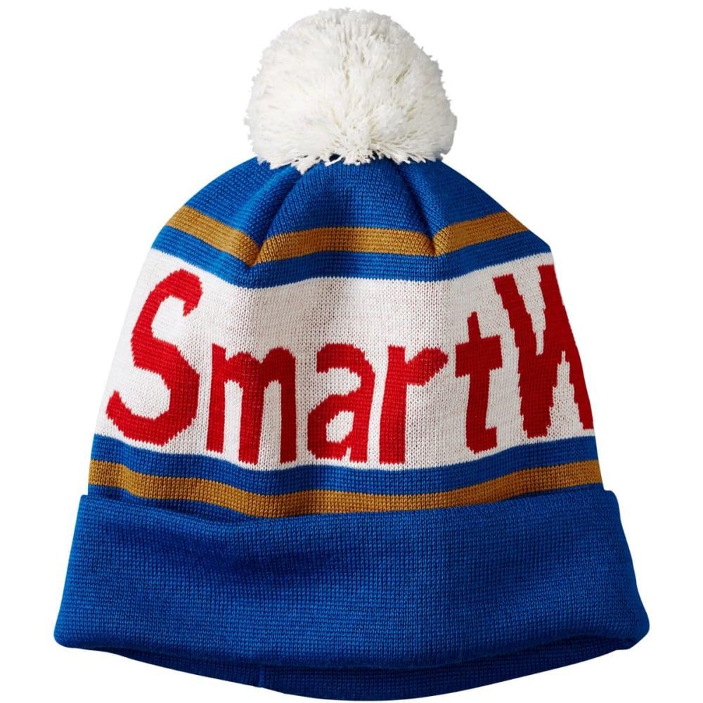 SMARTWOOL Men's Retro Logo Beanie - BRIGHT BLUE