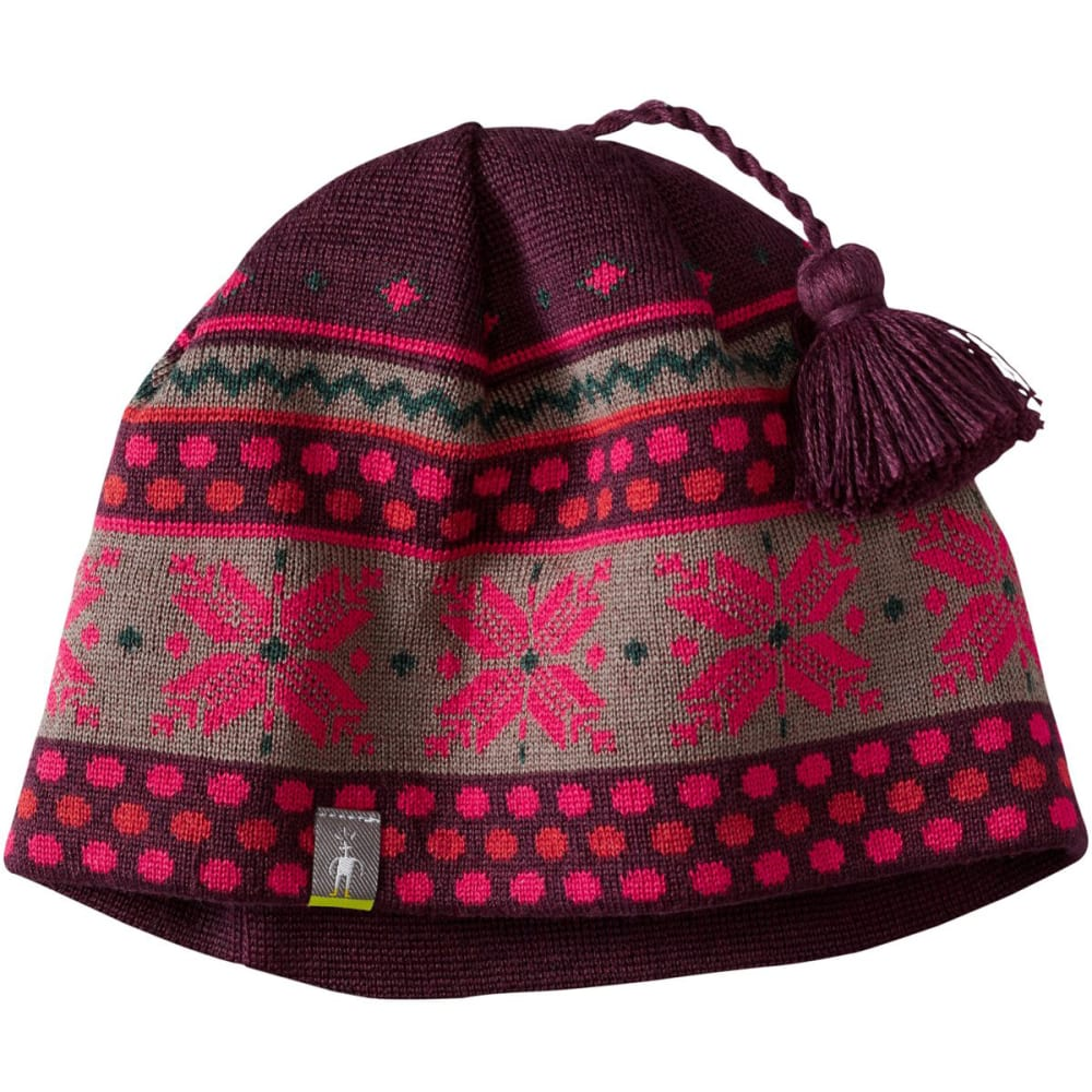 SMARTWOOL Women's Powder Day Hat - AUBERGINE