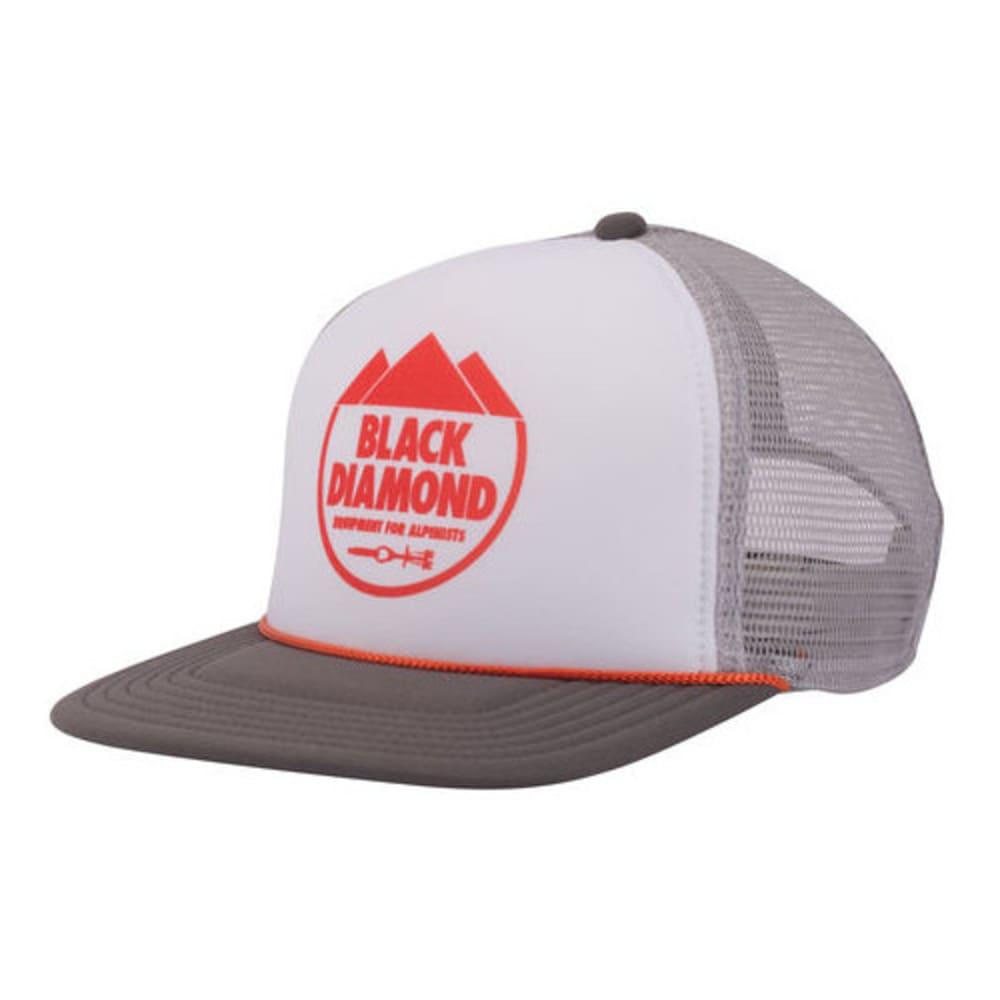 Black Diamond Mens Flat Bill Trucker Hat - White AQ3P