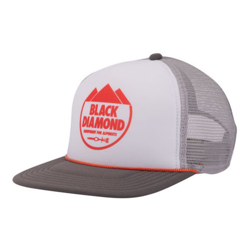 BLACK DIAMOND Men's Flat Bill Trucker Hat - WHITE