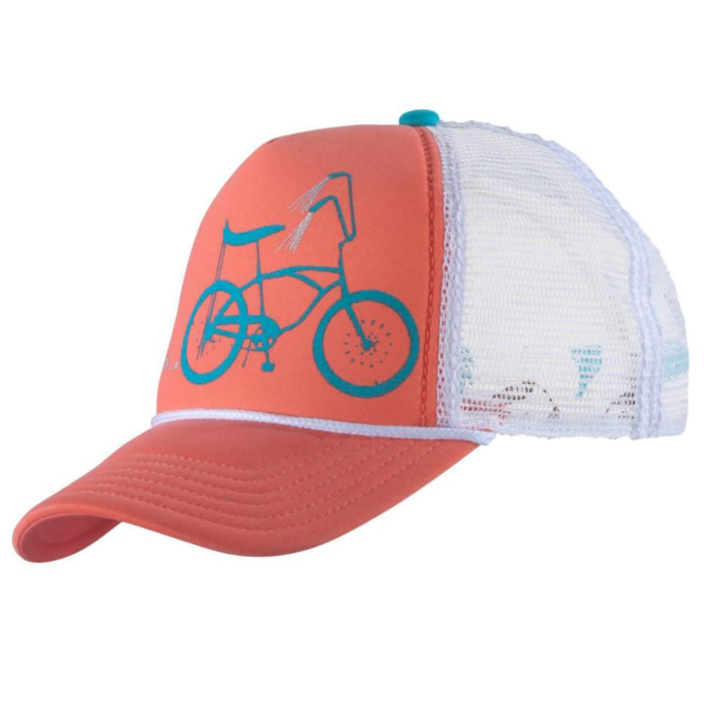 PISTIL Women's Darlin trucker Hat - CORAL