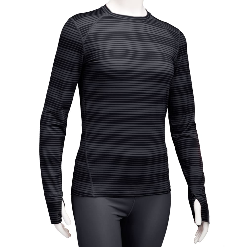 EMS® Women's Techwick® Lightweight Long-Sleeve Crew Baselayer  - JET BLACK