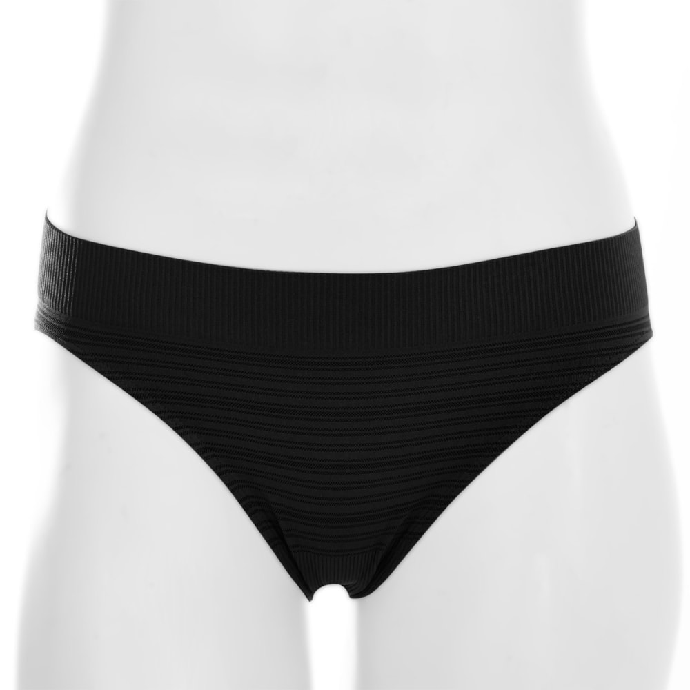 EMS® Women's Seamless Feather Bikini Brief - BLACK