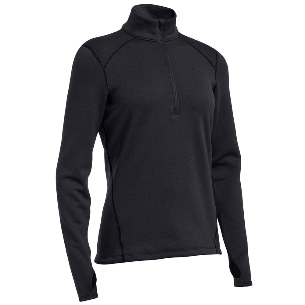 EMS® Women's Techwick® Heavyweight ¼ Zip Baselayer - JET BLACK