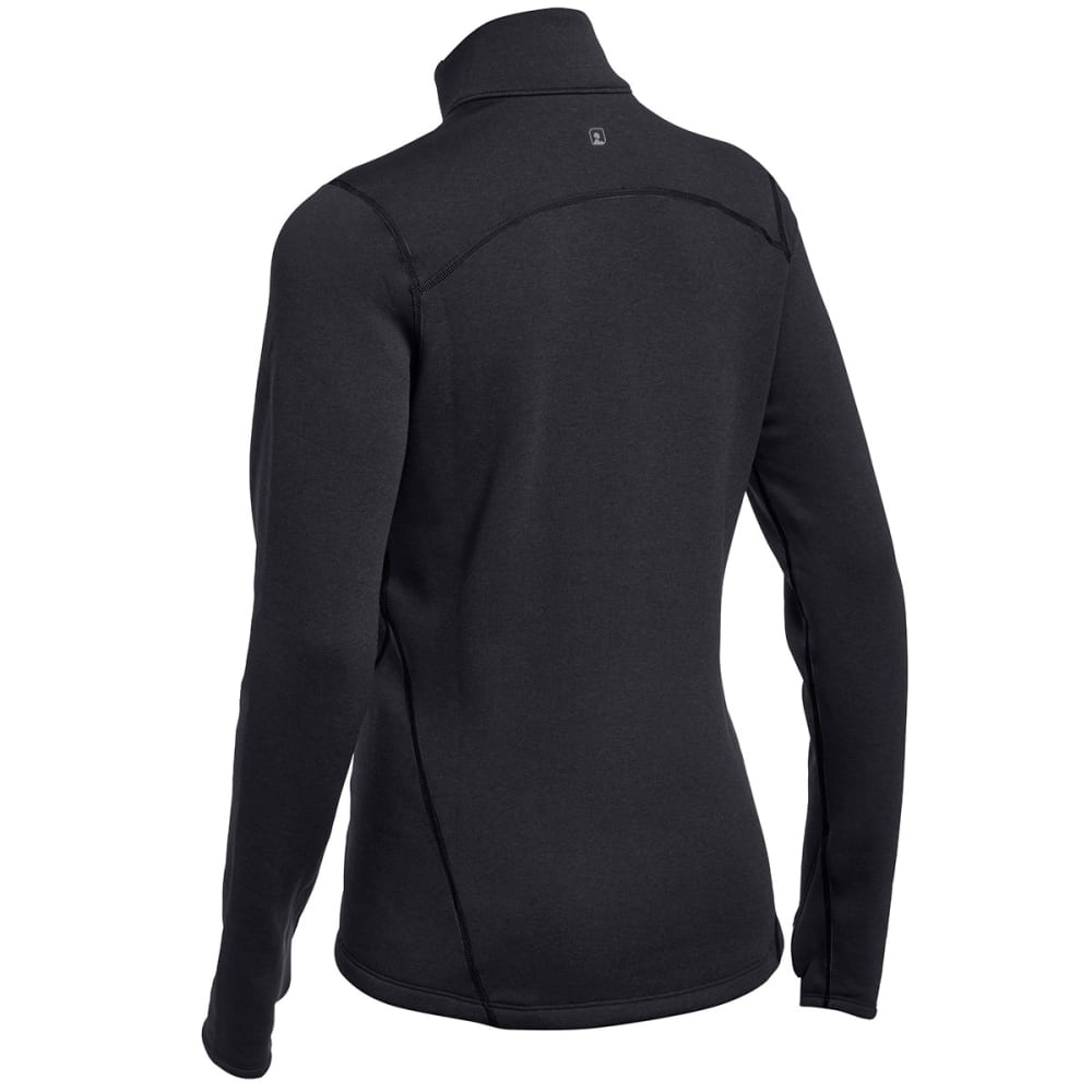 EMS® Women's Techwick® Heavyweight ¼ Zip Baselayer  - BLACK