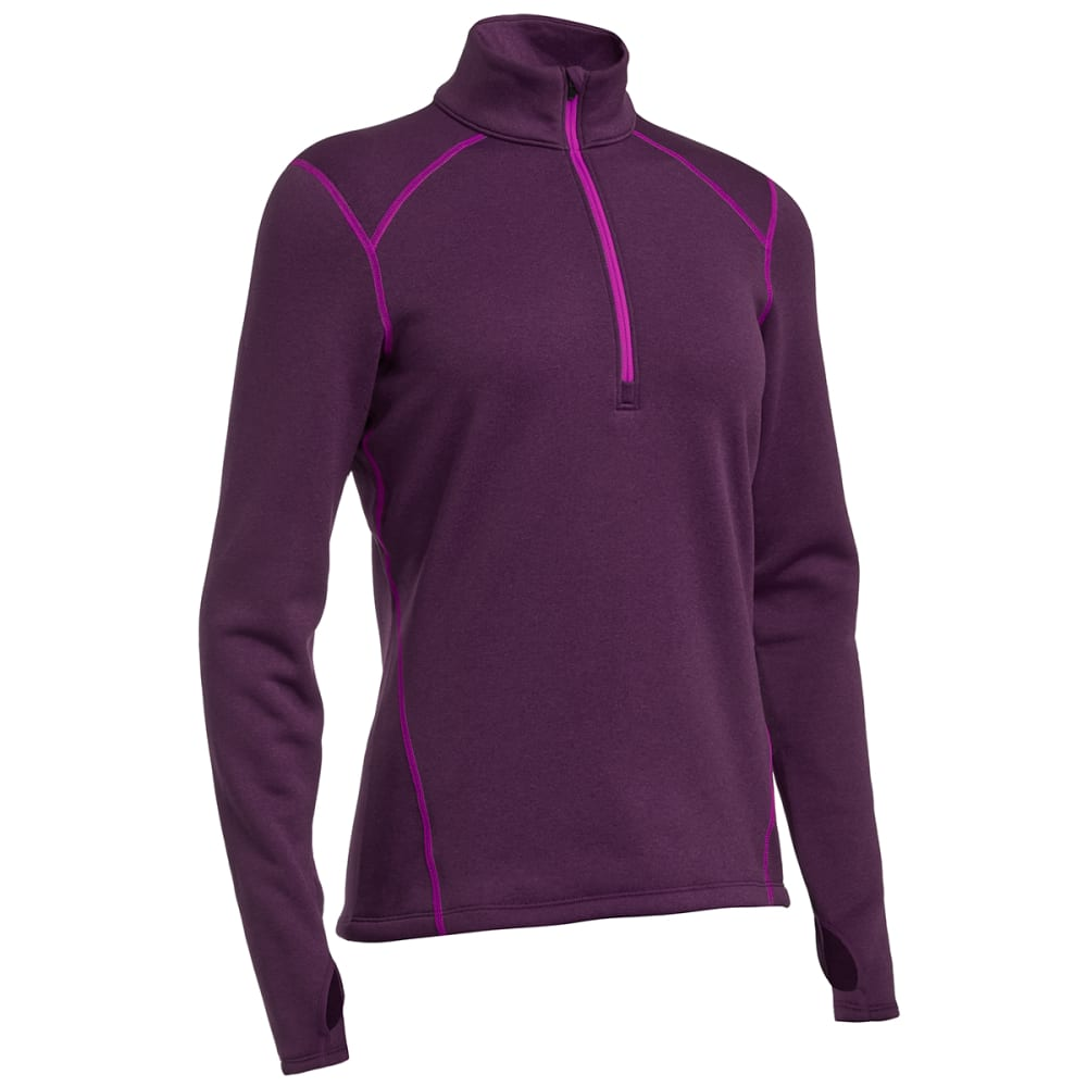 EMS® Women's Techwick® Heavyweight ¼ Zip Baselayer  - WINEBERRY
