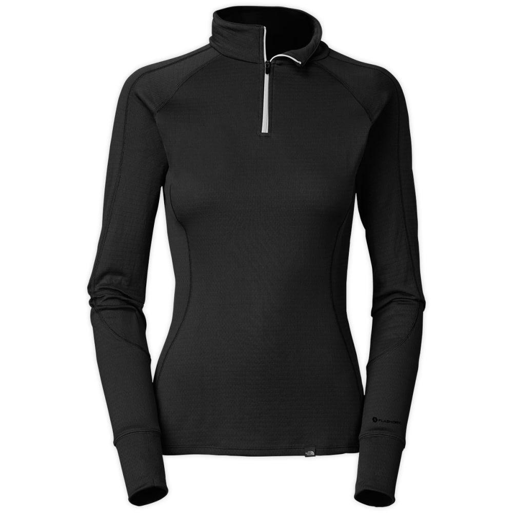 THE NORTH FACE Women's Warm Zip Neck, L/S - TNF BLACK