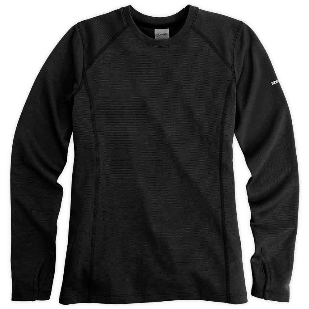 EMS® Women's Techwick® Midweight Long-Sleeve Crew Baselayer - JET BLACK