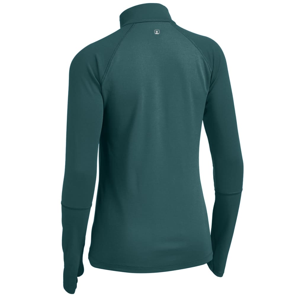 EMS® Women's Techwick® Midweight 1/4 Zip Baselayer - JADEITE/BALSAM
