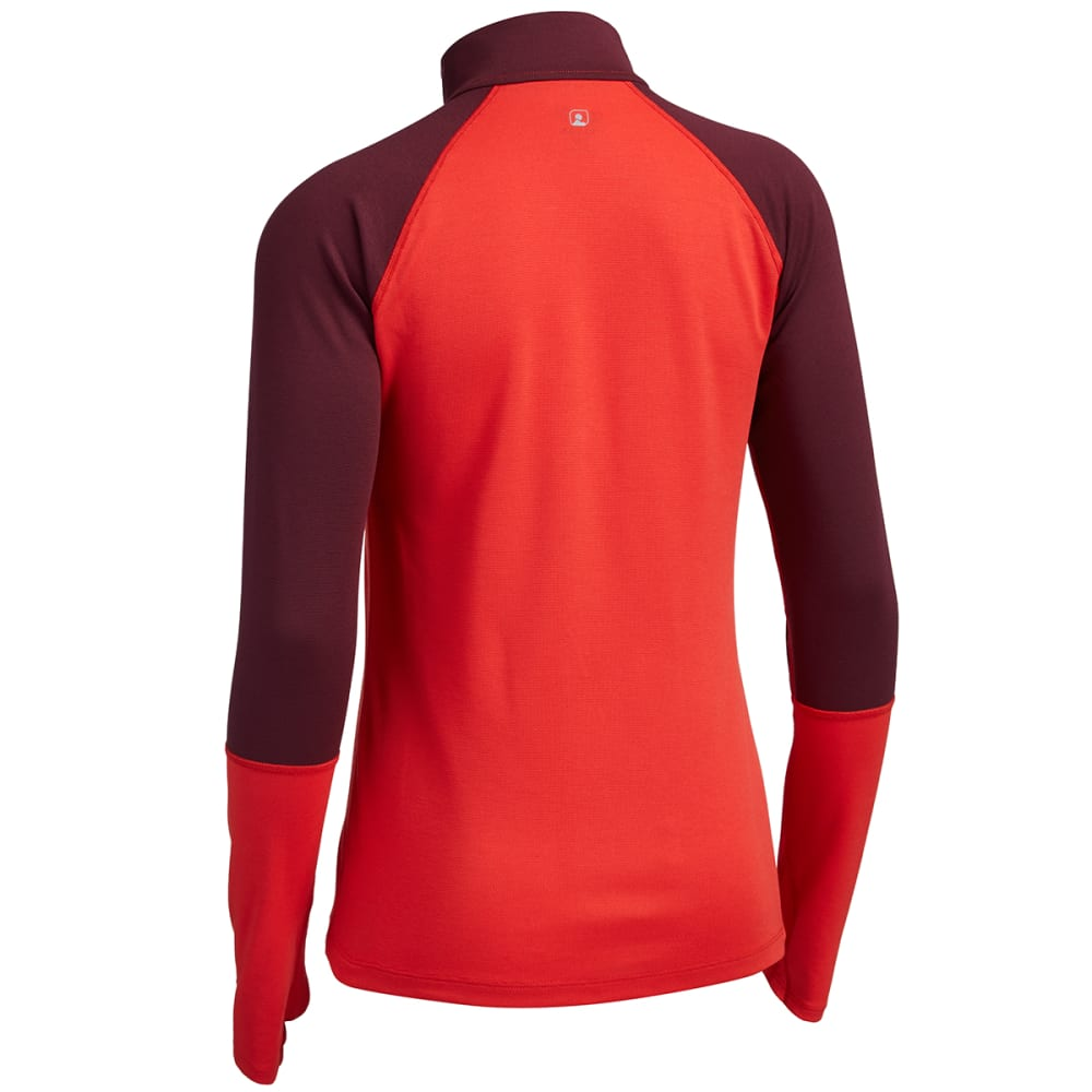 EMS® Women's Techwick® Midweight 1/4 Zip Baselayer - POPPY RED