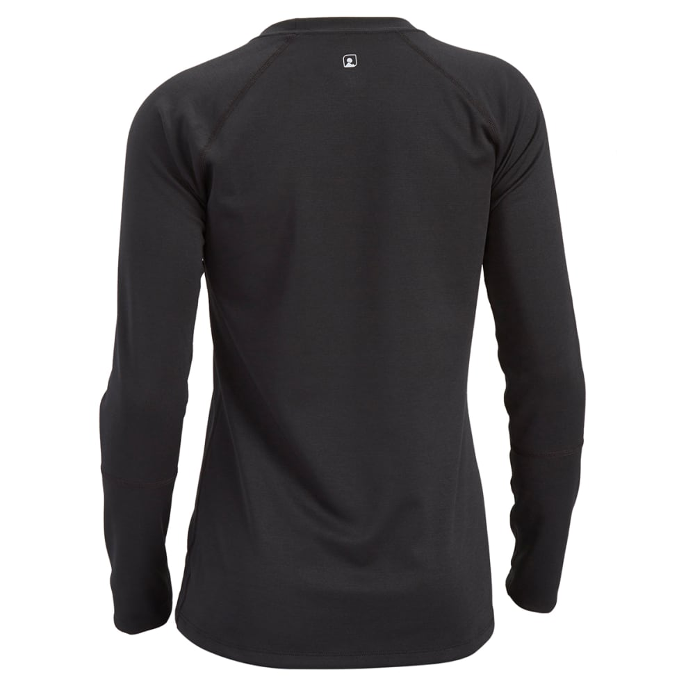 EMS® Women's Techwick® Midweight Long-Sleeve Crew Baselayer  - BLACK