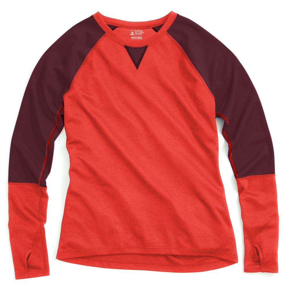 EMS® Women's Techwick® Midweight Long-Sleeve Crew Baselayer  - POPPY RED