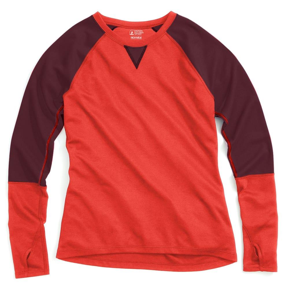 EMS® Women's Techwick® Midweight Long-Sleeve Crew Baselayer - POPPY RED