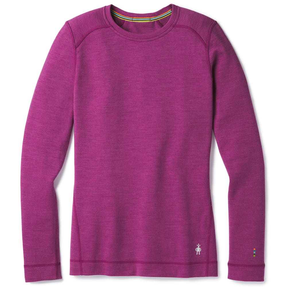SMARTWOOL Women's Midweight Crew - A11-MAUVE MEADOW