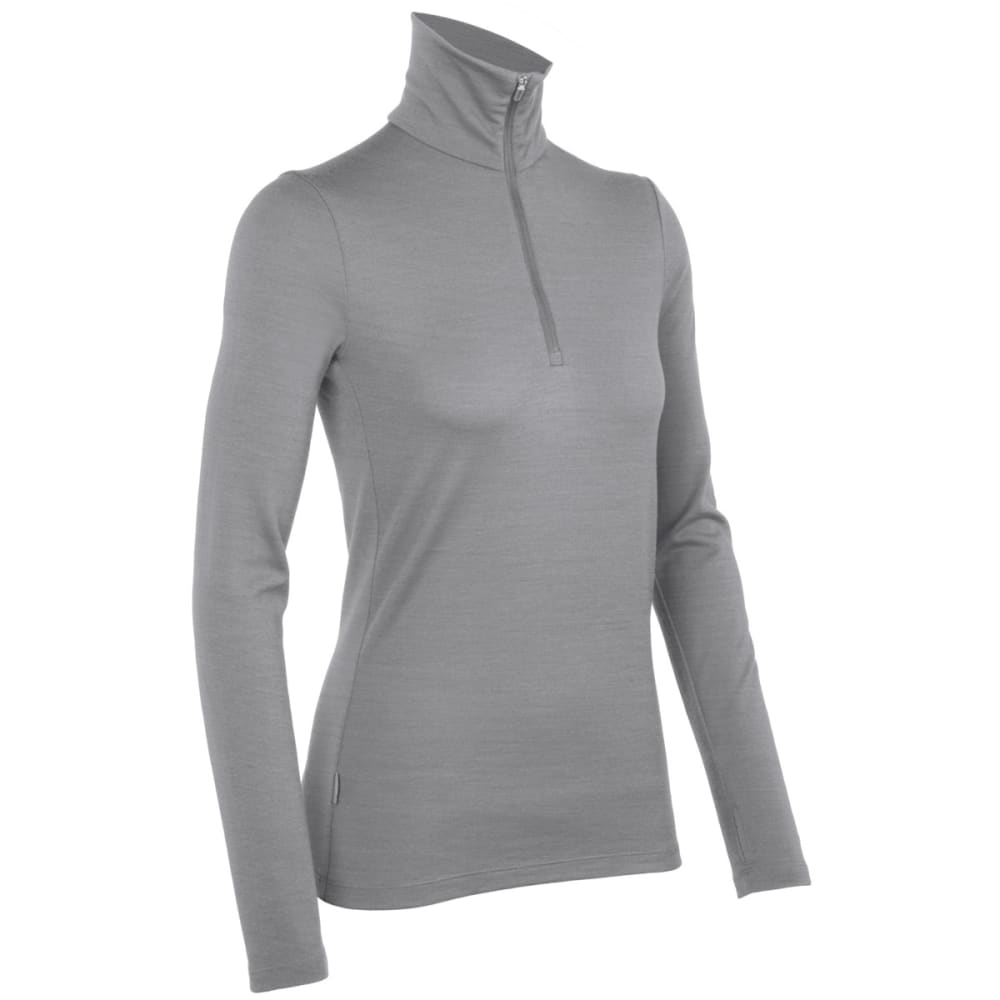 ICEBREAKER Women's Tech Top Midweight 1/2 Zip - HEATHER