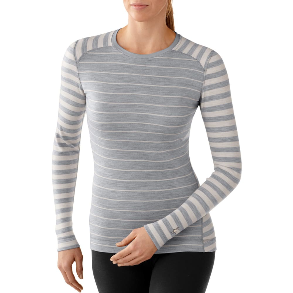 SMARTWOOL Women's NTS Mid 250 Pattern Crew - SILVER GREY HEATHER