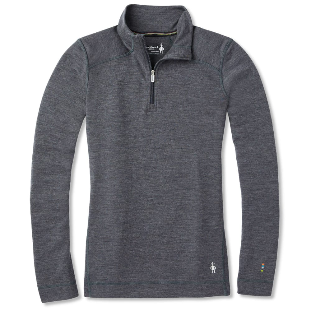 SMARTWOOL Women's NTS Mid 250 Zip T - GREY HEATHER - 084