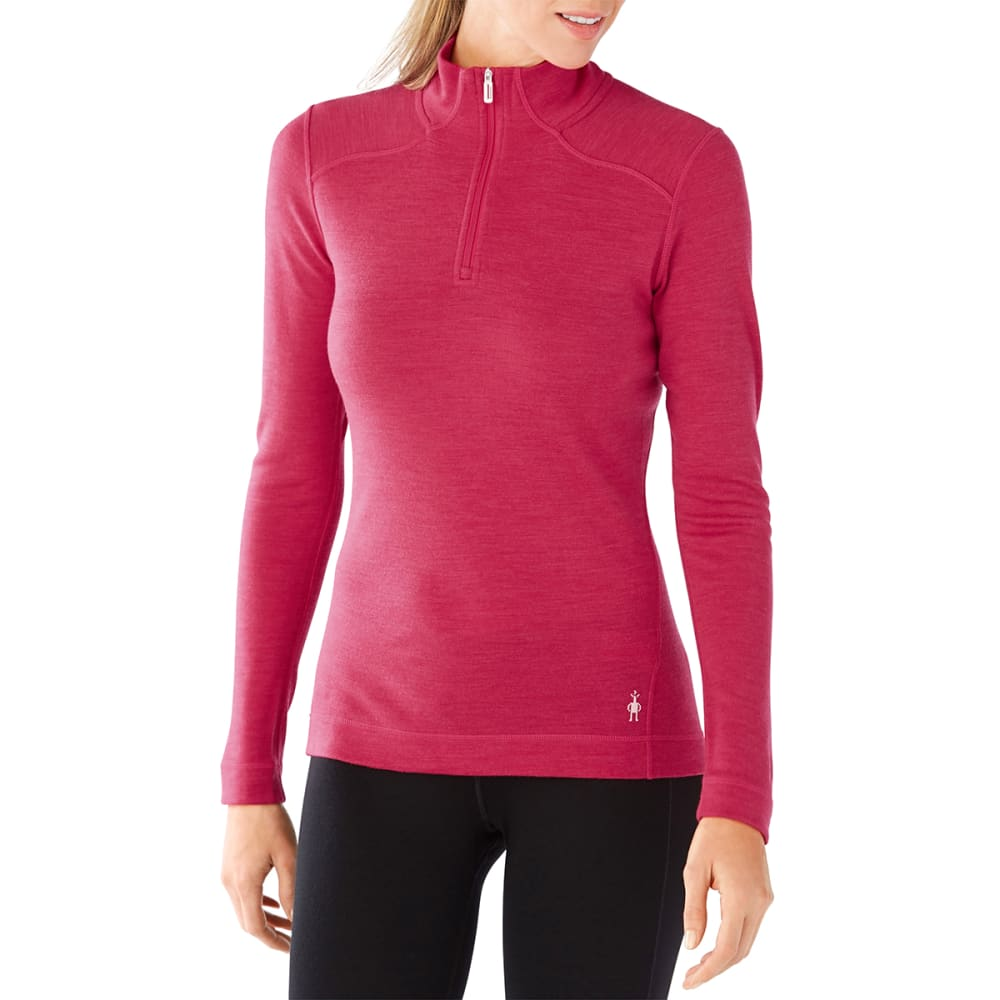 SMARTWOOL Women's NTS Mid 250 Zip T - 907- POTION PINK