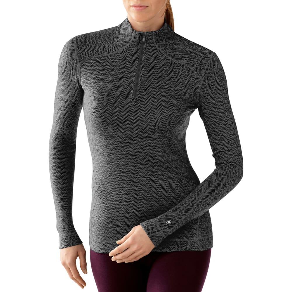 SMARTWOOL Women's NTS Mid 250 Pattern Zip T - BLACK
