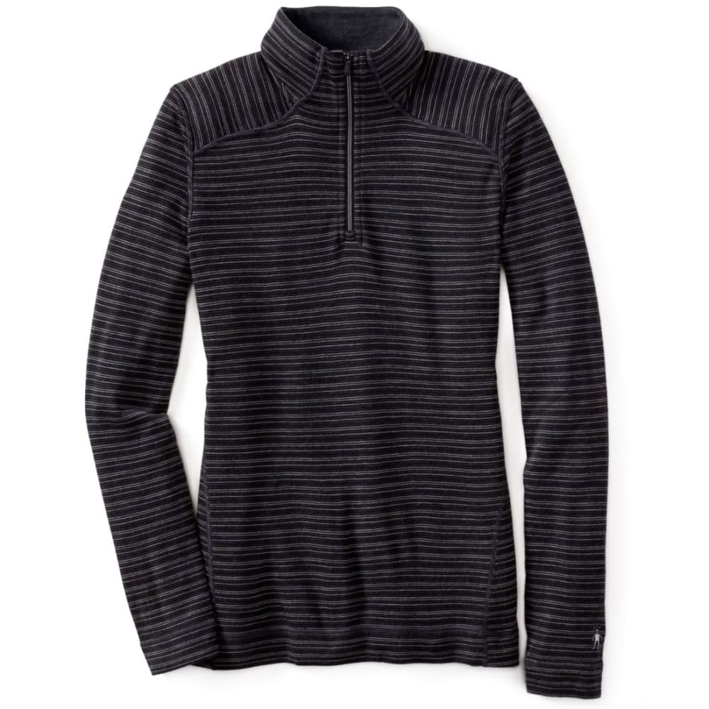 SMARTWOOL Women's NTS Mid 250 Pattern Zip T - CHARCOAL HEATHER