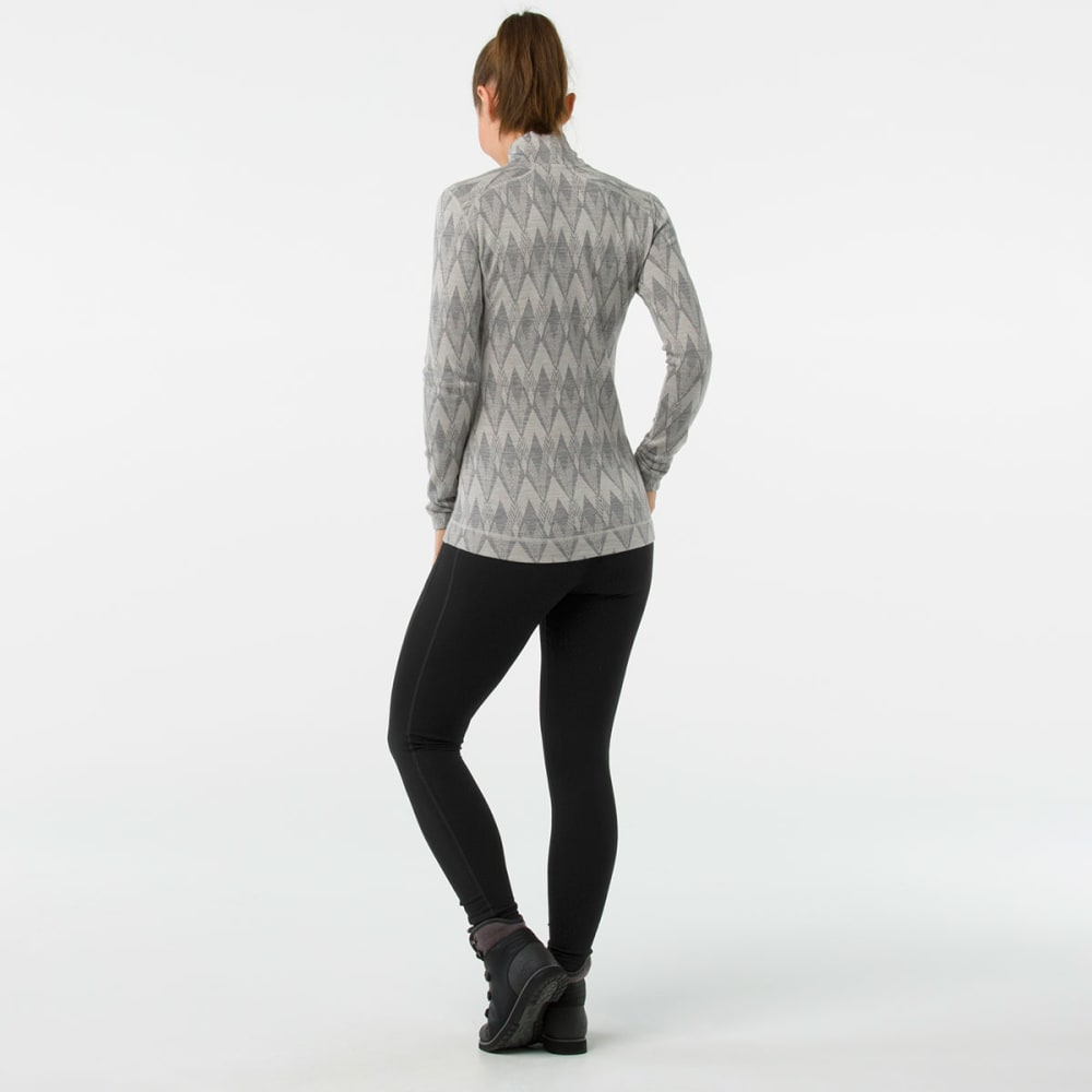 SMARTWOOL Women's NTS Mid 250 Pattern Zip T - A42-LTGREY MOONBEAM