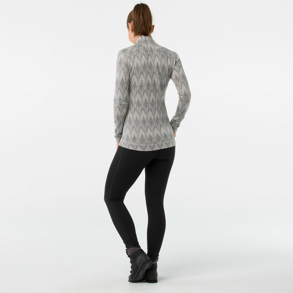 SMARTWOOL Women's NTS Mid 250 Pattern Zip T - A42-LTGREY MOONBEAM