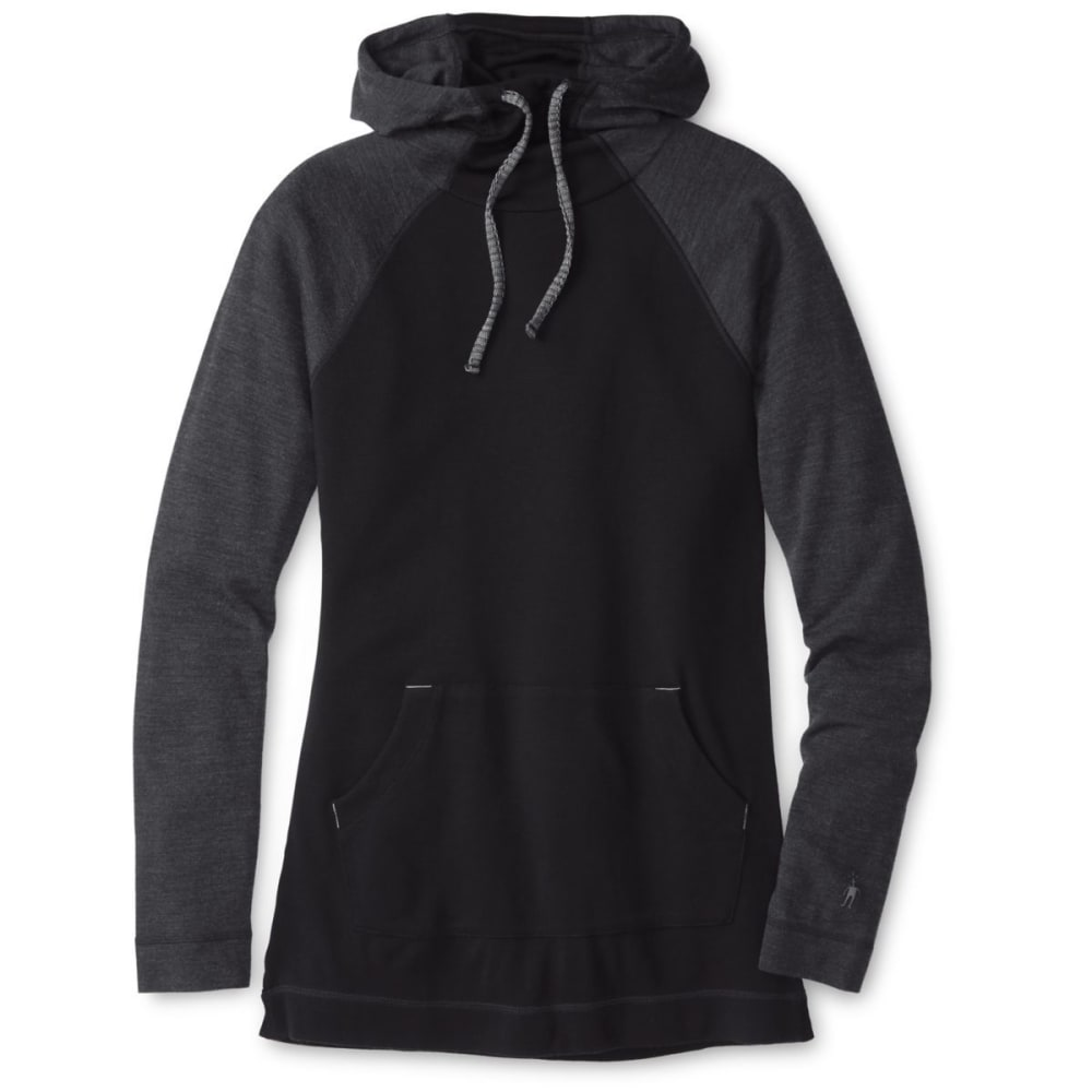 SMARTWOOL Women's NTS Mid 250 Drape Hoodie - BLACK