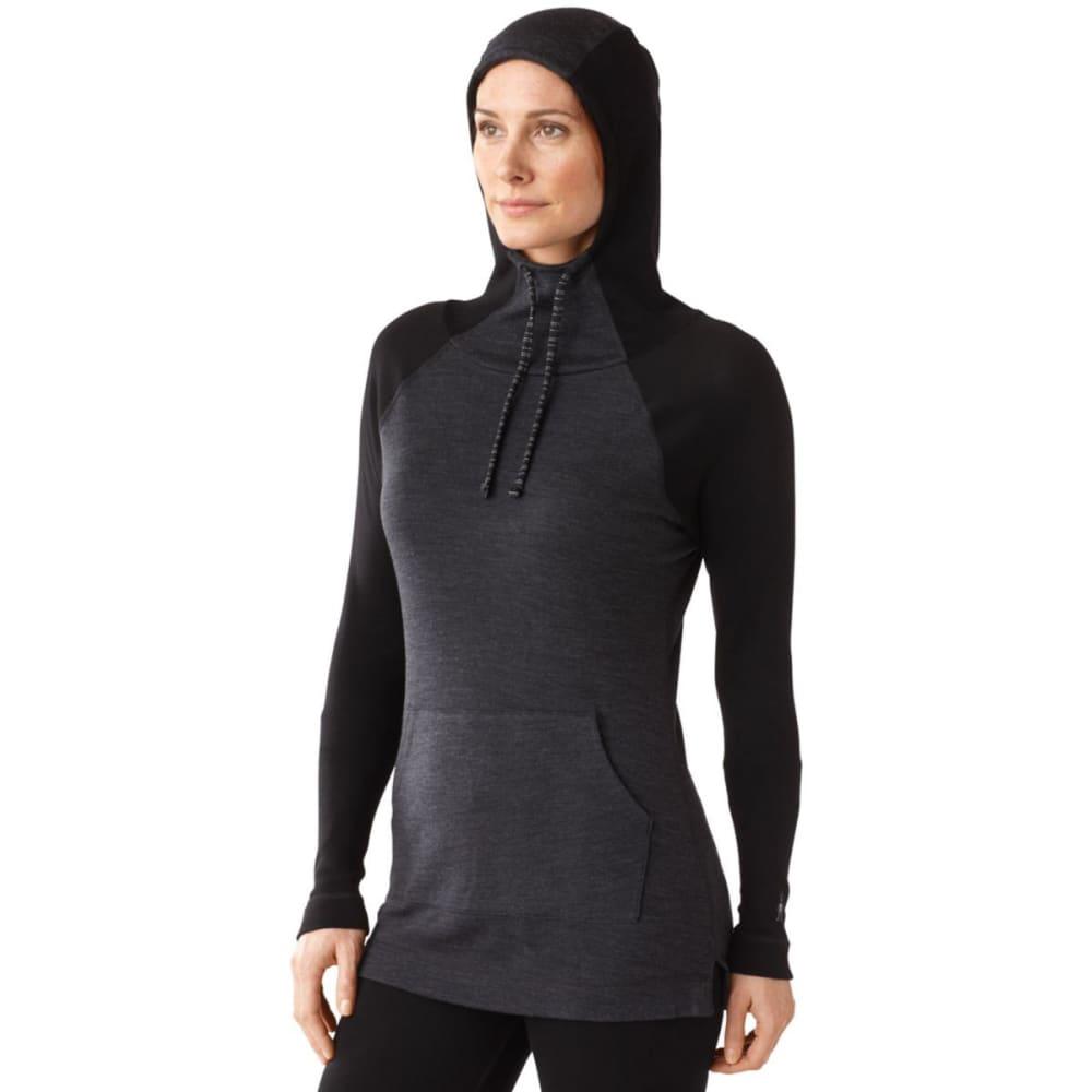 SMARTWOOL Women's NTS Mid 250 Drape Hoodie - CHARCOAL