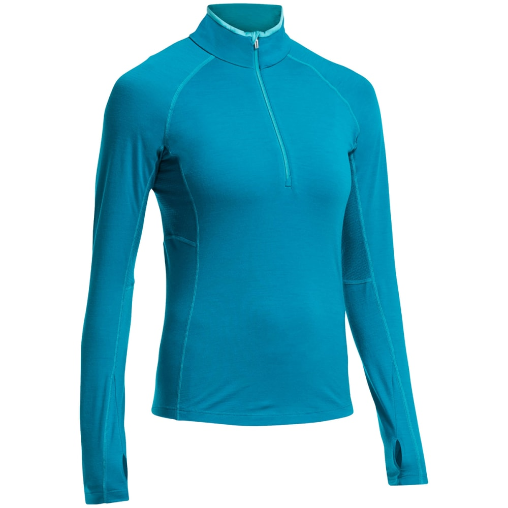 ICEBREAKER Women's BodyfitZONE Zone Long Sleeve 1/2-Zip - ALPINE/ AQUAMARINE/